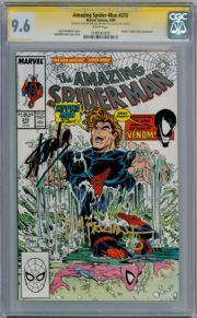 Amazing Spider-Man #315 CGC 9.6 Signature Series Signed Stan Lee & McFarlane Venom Marvel comic book